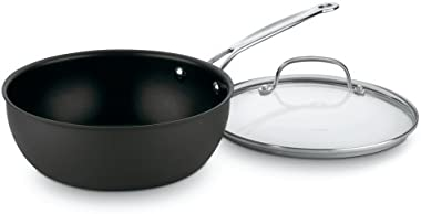 Cuisinart 635-24 Chef's Classic Nonstick Hard-Anodized 3-Quart Chef's Pan with Cover