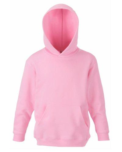 Fruit Of The Loom Kids Childrens Hoodie Hooded Sweatshirt Light Pink 9 11 Years