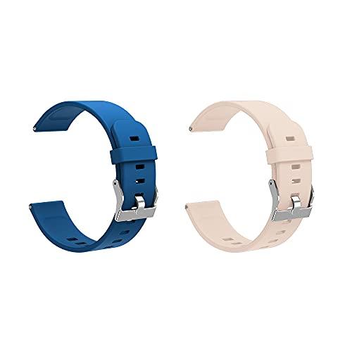 Pulsera de actividad física con monitor de ritmo cardíaco, para hombre y mujer, color dorado y azul