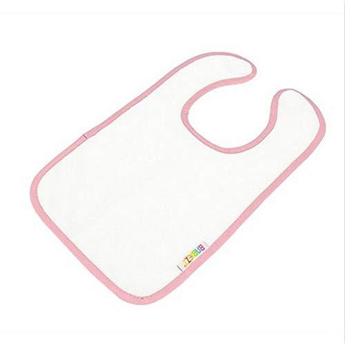 A&R Towels - Babero para sublimación entera modelo Babiezz para bebés (Talla Única) (Blanco/Rosa Claro)