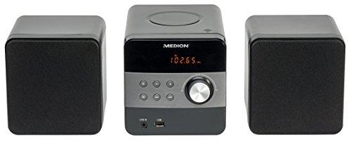 MEDION LIFE E64062 MD 80070 Micro-Audio-System, PLL Stereo UKW Radio, MP3-CD, USB, 30 Senderspeicher, schwarz
