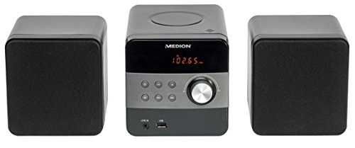 MEDION LIFE E64062 MD 80070 Micro-Audio-System, PLL Stereo UKW Radio, MP3-CD, USB, 30 Senderspeicher, schwarz