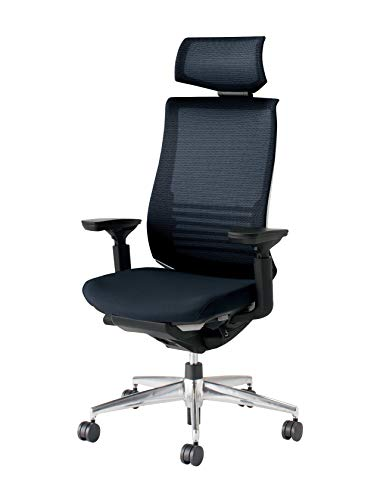 コクヨ ベゼル イス オフィスチェア ブラック ヘッドレスト付 デスクチェア 事務椅子 ハイエンドモデル CR-...