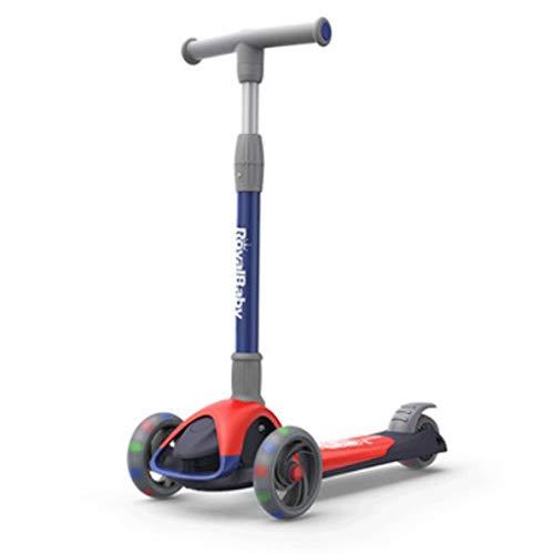Roller für Kinder Anti-Rutsch- und Anti-Stal-Roller für Kinder Alters 3-14 mit Flash-Rädern, Kinderroller 4...