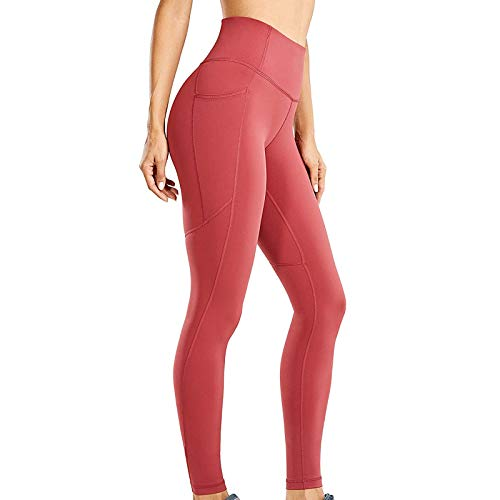 Zylione Damen Sport Leggings Frauen Mode Trainieren Leggings Fitness Sport Laufen Yoga Athletic Pants High Waist mit Tasche Fitnesshose Blickdicht Gym Leggings D M