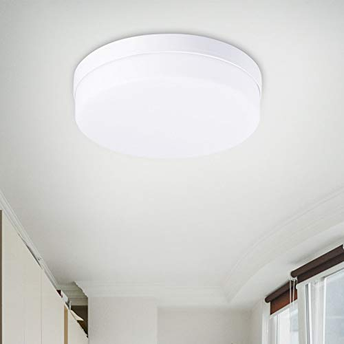 Lámpara de techo LED, lámpara de techo LED moderna, lámpara a prueba de agua IP54 con lámpara LED redonda para baño, protección ocular ideal para dormitorio/sala de estar (blanco frío, 48W (30CM))