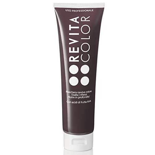 Revitacolor - Maschera Ravviva Colore - Maschera Capelli Colorati Riflessante in Crema - Colore Intenso, Riflessi Esaltati, Effetto Anticrespo - Prodotti per Capelli - 6.35 Cacao Red - 150 ml