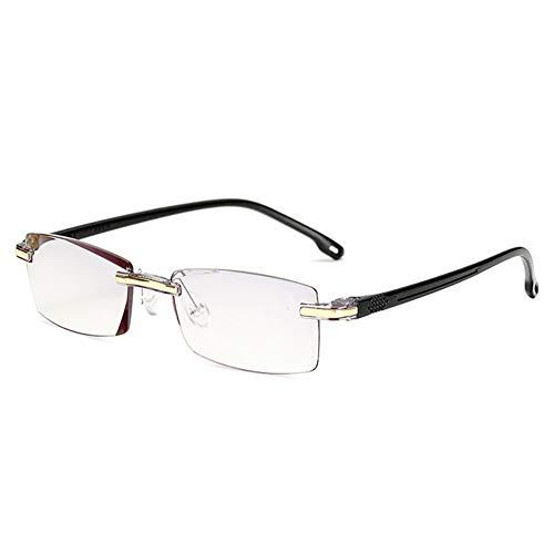 QINGXI leesbril met frame van metaal, zonder frame, buigzaam, voor leesbrillen, leesbril + 1.0 1.5 2.0 2.5 3.0 3.5