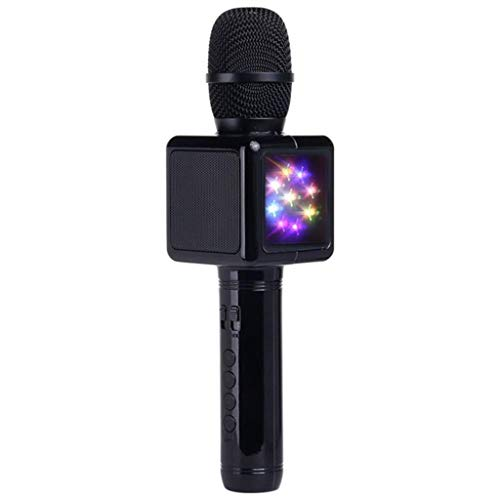 For Sale! QARYYQ Microphone Karaoke & Disco Light Wireless Portable Bluetooth Karaoke Player KTV Sin...