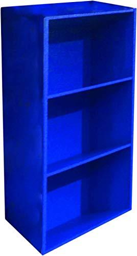 AntonaShop Libreria Colorata Componibile Modulare Legno MDF Laminato Mobile Scaffale (Blu)
