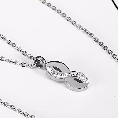 OYHBV Collar Collar Minimalista De Acero Inoxidable con Símbolo De Infinito, Joyería Única para Mujer, Regalo para Amigos