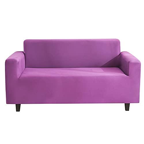 WXQY All-Inclusive elastischer Sofabezug mit Armlehne Sofabezug Milchseidenstoff himmelblau Rutschfester Sofabezug Couchbezug A5 3 Sitzer