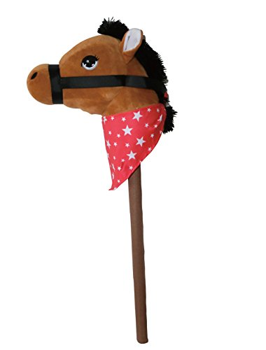 PonyLand Brown Horse Stick with Sound