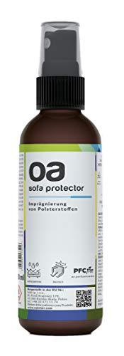 OA Sofa Protector Imprägnierspray (100ml) - 100% PFC frei und vegan - Wirksame Imprägnierung für Textil und Polster - Imprägnierung für Sofa, Imprägniermittel für Textilien - Nano Spray