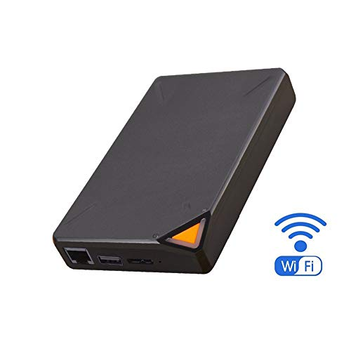 Lhlbgdz Disco Duro Externo portátil Inteligente de Disco Duro de 1 TB Almacenamiento en la Nube Wi-Fi Caso HDD de Acceso Remoto para la Tableta del Ordenador portátil