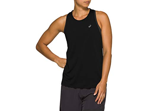 ASICS Women's Race Sleeveless Running Clothes, XL, PERFORMANCE BLACK
