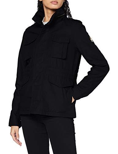 Superdry Damen Ripstop Rookie Jacket Jacke, Schwarz (Black 02A), M (Herstellergröße:12)