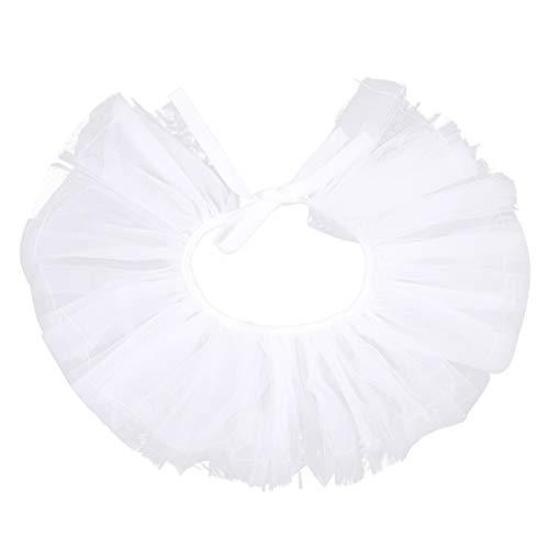 Agoky Edel Halskrause Mühlsteinkrause Rüschen Kragen Abschluss Spanischen Mode Jabot Tüll Halsband Schmuck Weiß B One Size