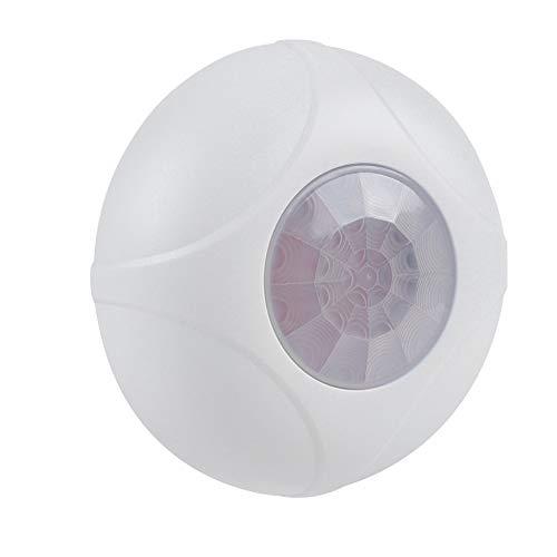 Alarma de Sensor infrarrojo, Detector de Movimiento PIR con Cable VBESTLIFE Sistema de Alarma de Seguridad para el hogar, ángulo de detección de 360 Grados, Rango de 8 m