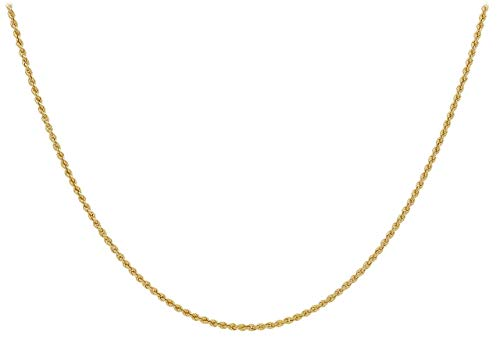 Carissima Gold Damen-Kordelkette 9ct 60 Hollow Rope Chain 375 Gelbgold 46 cm - 1.12.0184