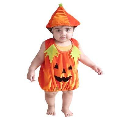 Alice Emporium Cute Halloween Pumpkin Costume for kids (Pumpkin (2-4 Years))