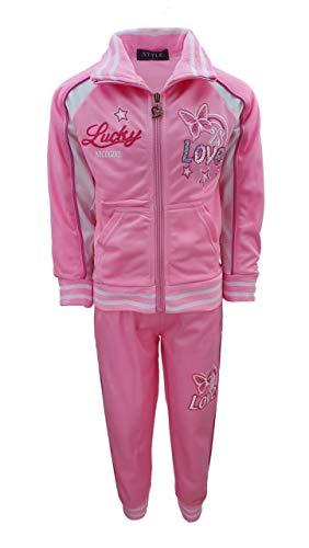 Sports Girls Süßer Mädchen Trainingsanzug in Rosa, Gr. 104, MF86.4