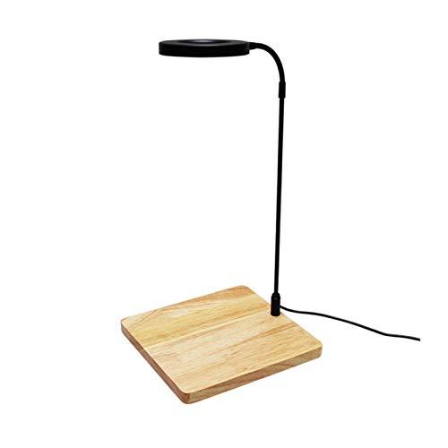 Faderr Luz de acuario de 10 W en miniatura de paisaje alimentado por USB con tablero de madera para acuario Nano Tanque, tanque de peces, plantas en maceta, suculentas (tamaño: M)