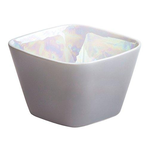 Kahla eckig 6x6 cm Glanzlichter Perlglanz-grau kleine Schale, Porzellan, 6 x 6 x 5,7 cm