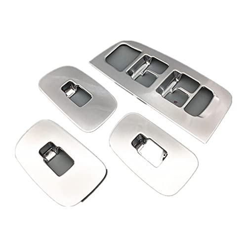 HYZZ Molduras Interiores Botones De Elevación De Vidrio De Ventana Calcomanías De Molduras De Marco para Vo&lvo XC60 2018 LHD