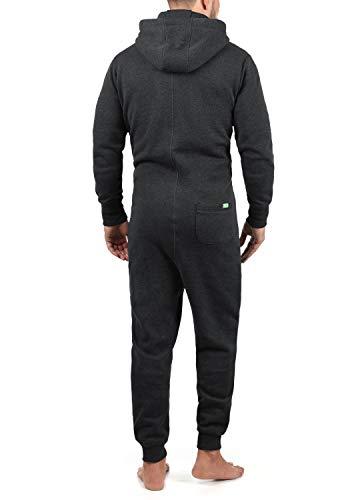 !Solid BennJump Herren Jumpsuit Sweat-Overall Onesie Mit Kapuze, Farbe:Dark Grey Melange (8288) - 2