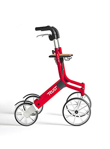 Trustcare Let's Go Out - Rollator, color rojo y negro ✅
