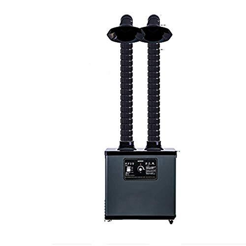 BAOSHISHAN Filtro de Humo Extractor de Humos de la Industria Absorbente de Humo de Soldadura Digital para Soldadura Sistema de dos brazos (220V)