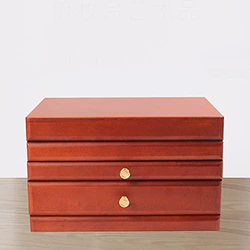 Yousiju Caja organizadora de almacenamiento de accesorios de joyería de reloj de madera caja de joyería embalaje de boda