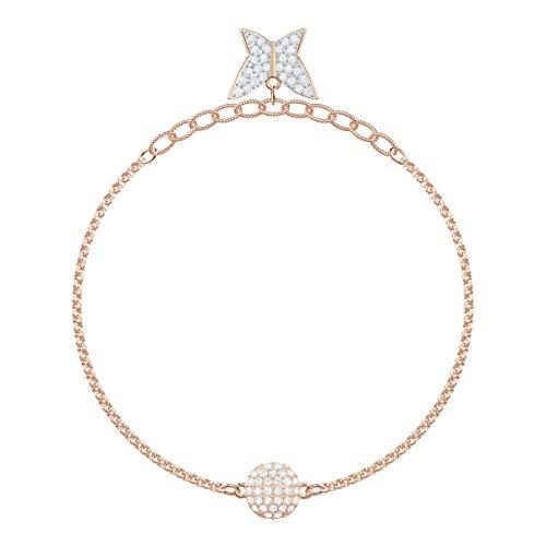 Swarovski Women's Rose-Gold Tone Plated, White Crystal, Swarovski Remix Collection Lilia Strand 5466823