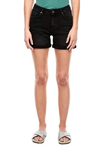 Q/S designed by - s.Oliver Damen Regular Fit: Shorts aus Jeans dark grey 38