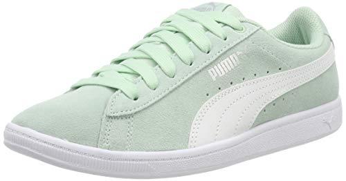 Puma Mädchen Vikky Jr Sneaker, Blau (Fair Aqua-Puma White), 38 EU