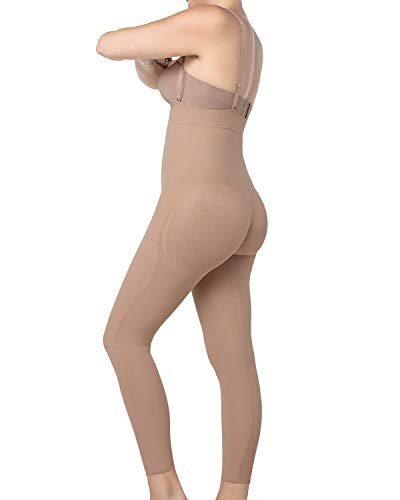 Leonisa Invisible Body-Shaper mit Po Push-Up strafft die Beine Beige XXL