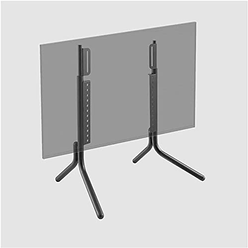 Upgraded Tabletop TV Stand Base LCD TV Metal Stand Height-Adjustable Desktop TV Stand Mount with Wire Management