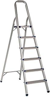 AAA Safe Aluminium Ladder, Ultra-Stable Foldable Aluminium Ladder - 6 Steps