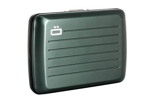 ÖGON Smart - Porta Carte StockholmV2 - Protezione RFID: Protegge Le Tue Carte Contro Le Frodi - Alluminio Anodizzato (Platinium)