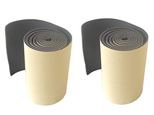 FLWP20020Bx2 Pare-chocs long pour murs de parking, fabriqué à partir de caoutchouc mousse épais, autoadhésives, pour protéger les véhicules, 200x20x0,5 cm, noire (2 pièces)