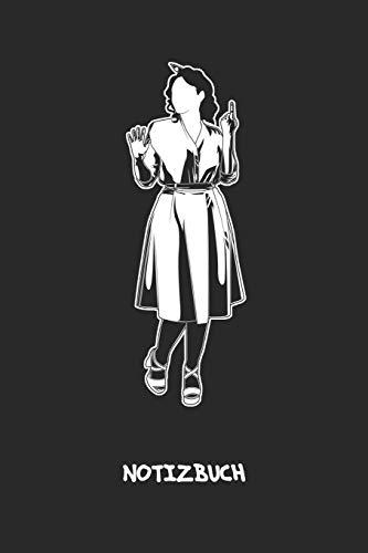 NOTIZBUCH: A5 Liniert Vintage Liebhaber Schreibblock - Notizblock 120 Seiten 6x9 inch Tagebuch für Erwachsene - Rockabilly Kleid Notizheft 50er Jahre Kleid Vintage-Fans Geschenk Abendkleidung