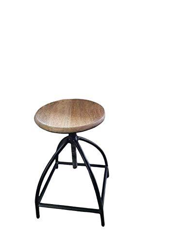 ANTARRIS Bar-Hocker Barhocker Barschemel Modell Industrial 34 x 34 x 76 Höhenverstellbar, extra Stabil schwarz oder weiß - 10 Jahre Durchbrechgarantie auf das Gestänge (schwarz)