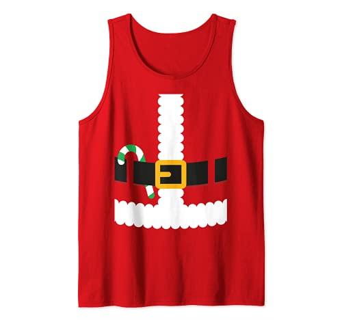 Novedad Pap Noel - Disfraz de Navidad Camiseta sin Mangas