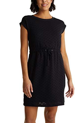 edc by Esprit Damen 040CC1E339 Kleid, 001/BLACK, S