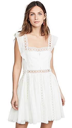Free People Women's Verona Dress, Ivory, Off White, Small