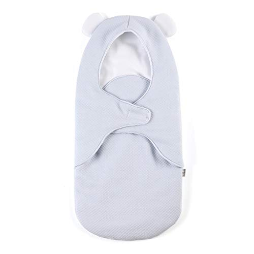 XIANGBEI Saco de dormir con capucha para recién nacido, de algodón suave, manta antichoque, saco de dormir seguro para las noches de bebé, dulce bebé niño niña saco de dormir