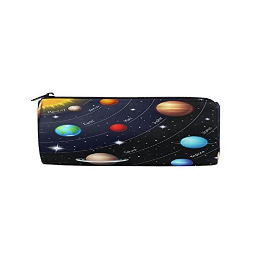 BOLOLI - Estuche para lápices con sistema solar espacial, diseño de Galaxy Nebulosa Planet, con cremallera, para maquillaje, para escuela, oficina, niños, estudiantes, adolescentes