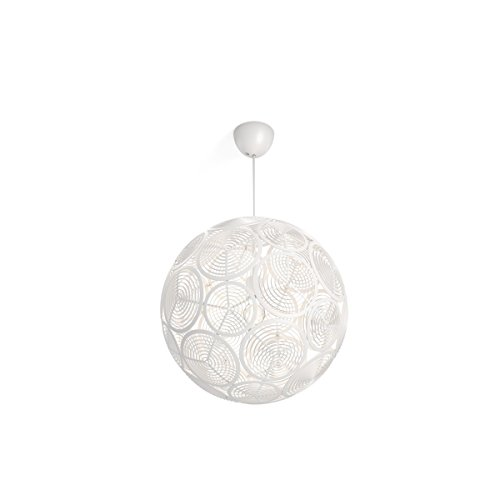 Philips Lighting Lampada a Sospensione Smart Volume Ring, Design Moderno, Bianco, 50 x 50 x 208 cm