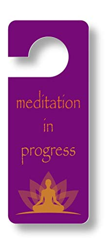 Do Not Disturb Sign Door Hanger. Meditation Gift for Home or Office. Dual Sided, Sturdy Plastic. Welcome Please Enter